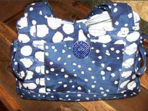 Blue and White Floral Purse