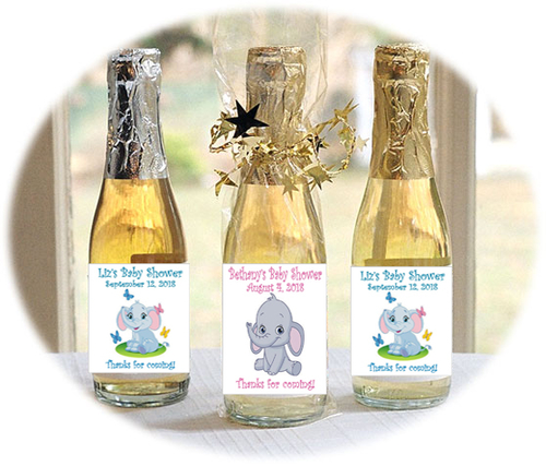 Little Peanut Personalized Mini Bottles Pink or Blue Choice of Filling