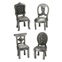 Pewter Chair Outdoor Covers Big W Place Card Holders