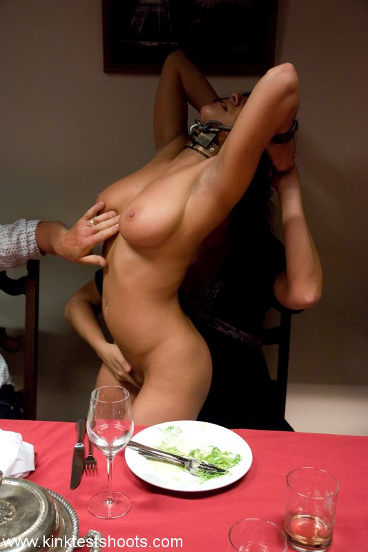 free image gallery from Public Disgrace  Busty brunette