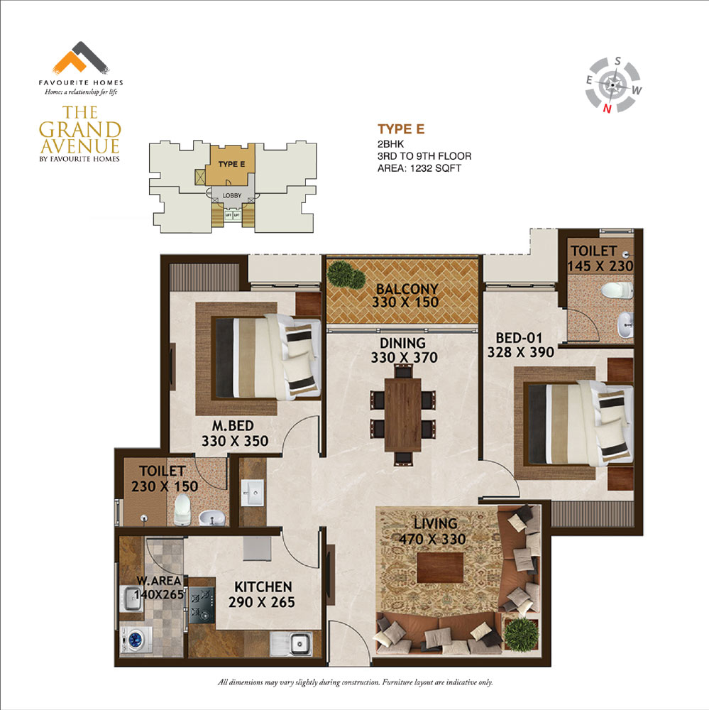 The Grand Avenue floor plan