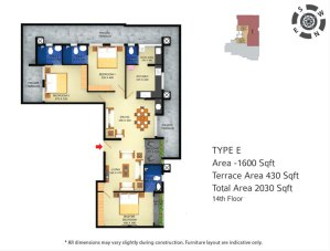 The Town Square floor plan