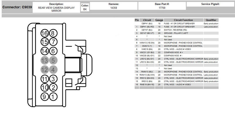 1996 Sebring Ignition Switch Wiring Diagram Color Code 09 Rear View Camera Page 68 Ford F150 Forum