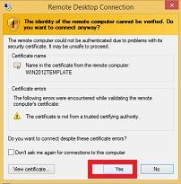 klik yes Cara Menggunakan VPS Windows