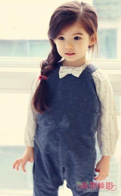 8歲的女孩子孩子長發發型圖片 小女孩簡便長發發型(2)_發型師姐