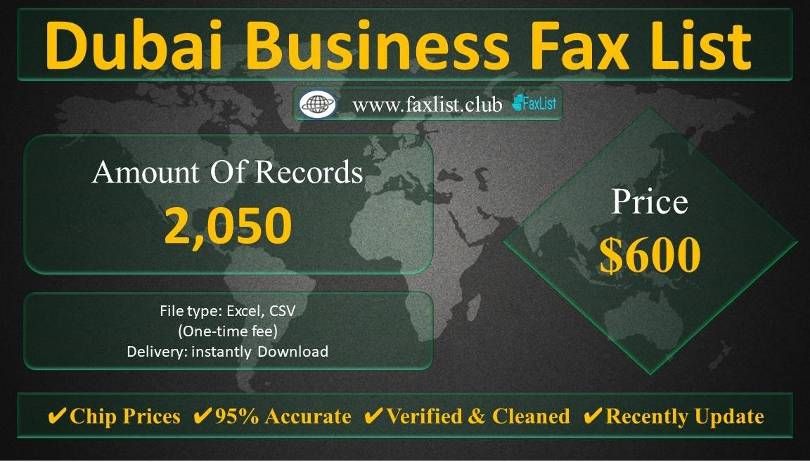 Dubai Business Fax List