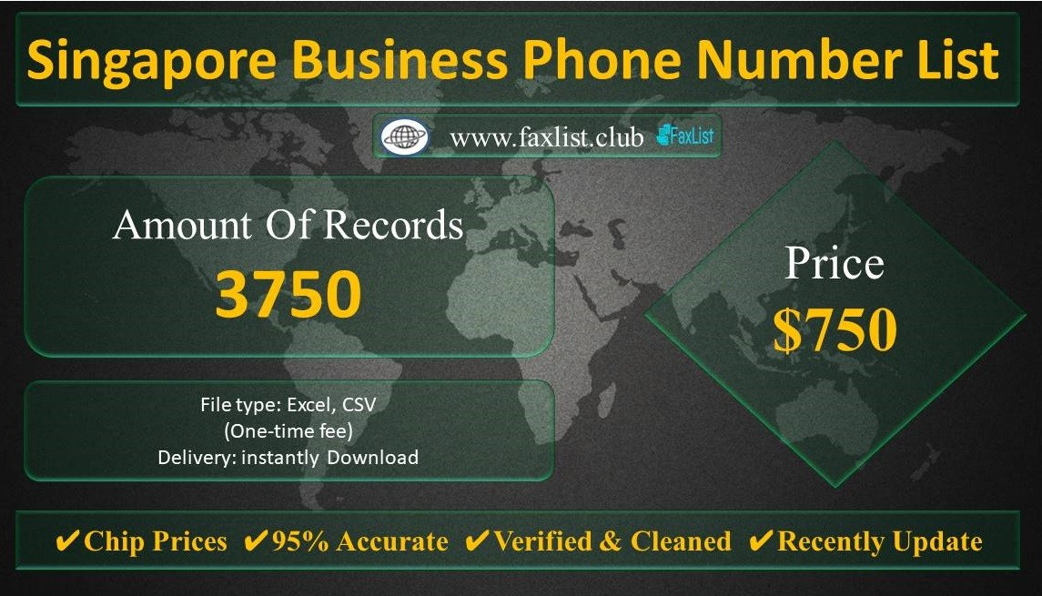 Singapore Business Phone Number List