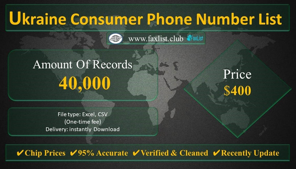 Ukraine Consumer Phone Number List