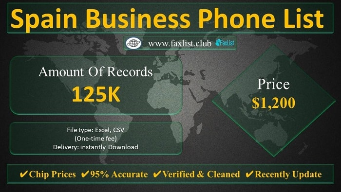 Spain Business Phone List