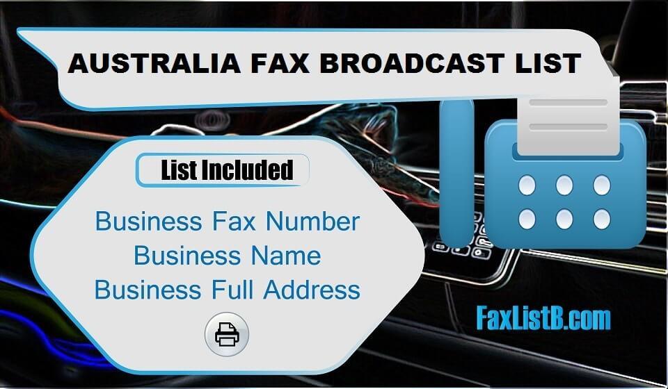 AUSTRALIA FAX BROADCAST LIST