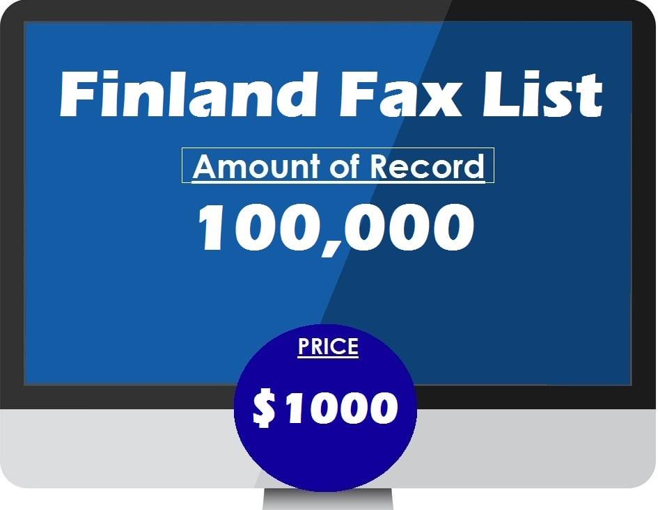 Buy FINLAND fax list