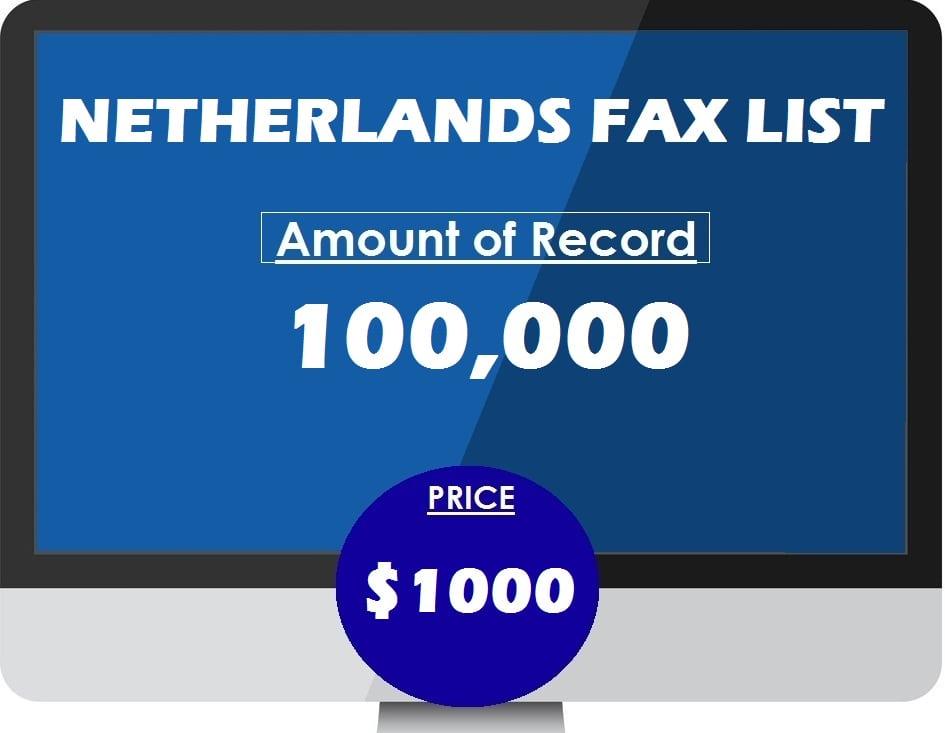 Buy NETHERLANDS FAX LIST