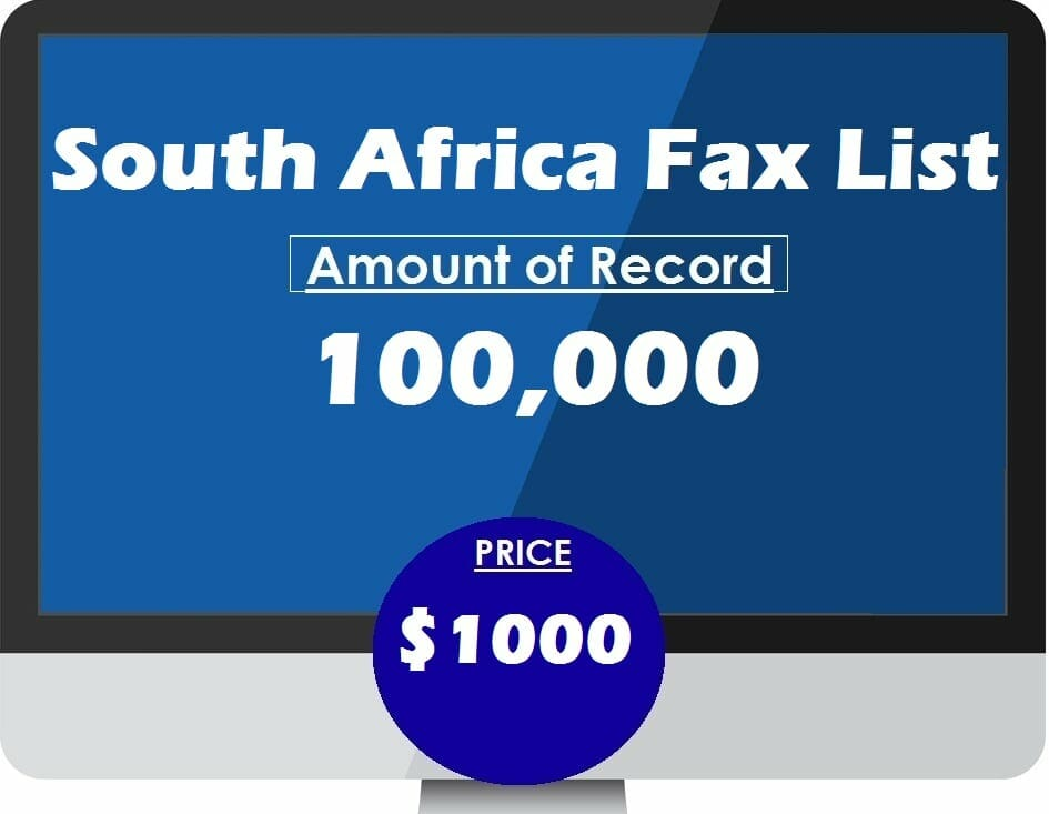 Buy South Africa Fax List