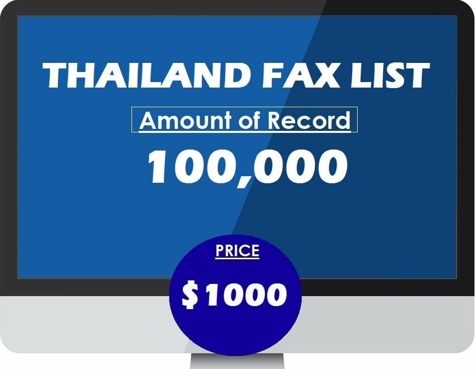 Buy THAILAND FAX LIST
