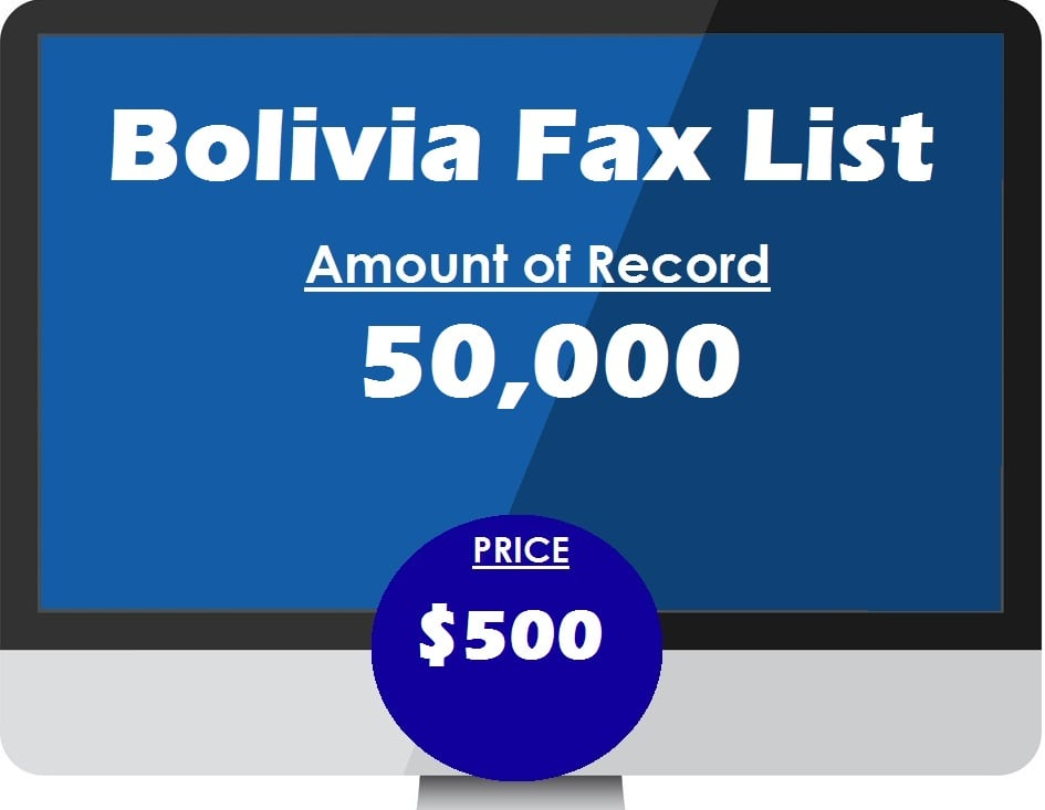 Buy bolivia fax list