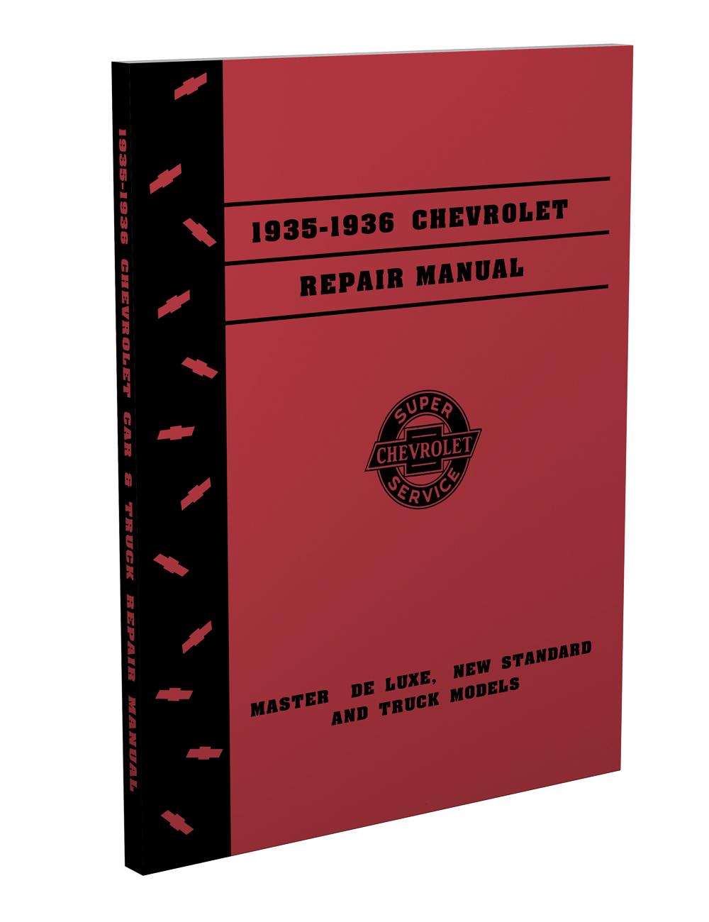 hight resolution of 1935 1936 chevrolet shop manual reprint all models