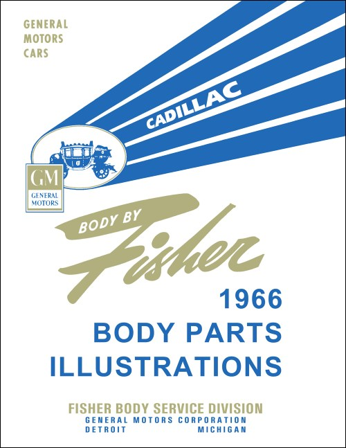 small resolution of 1966 cadillac fisher body parts illustration catalog reprint