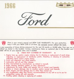 1966 ford galaxie and ltd owner s manual reprint [ 1166 x 1000 Pixel ]