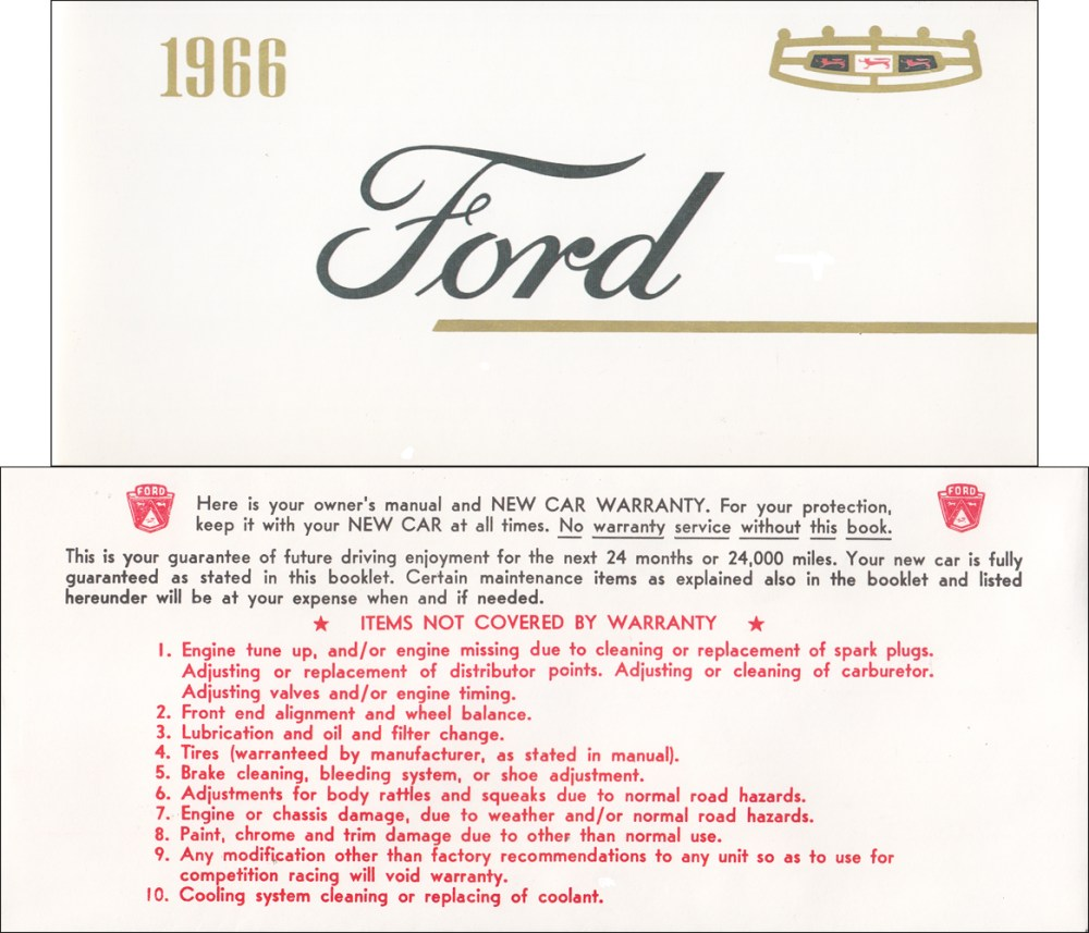 medium resolution of 1966 ford galaxie and ltd owner s manual reprint