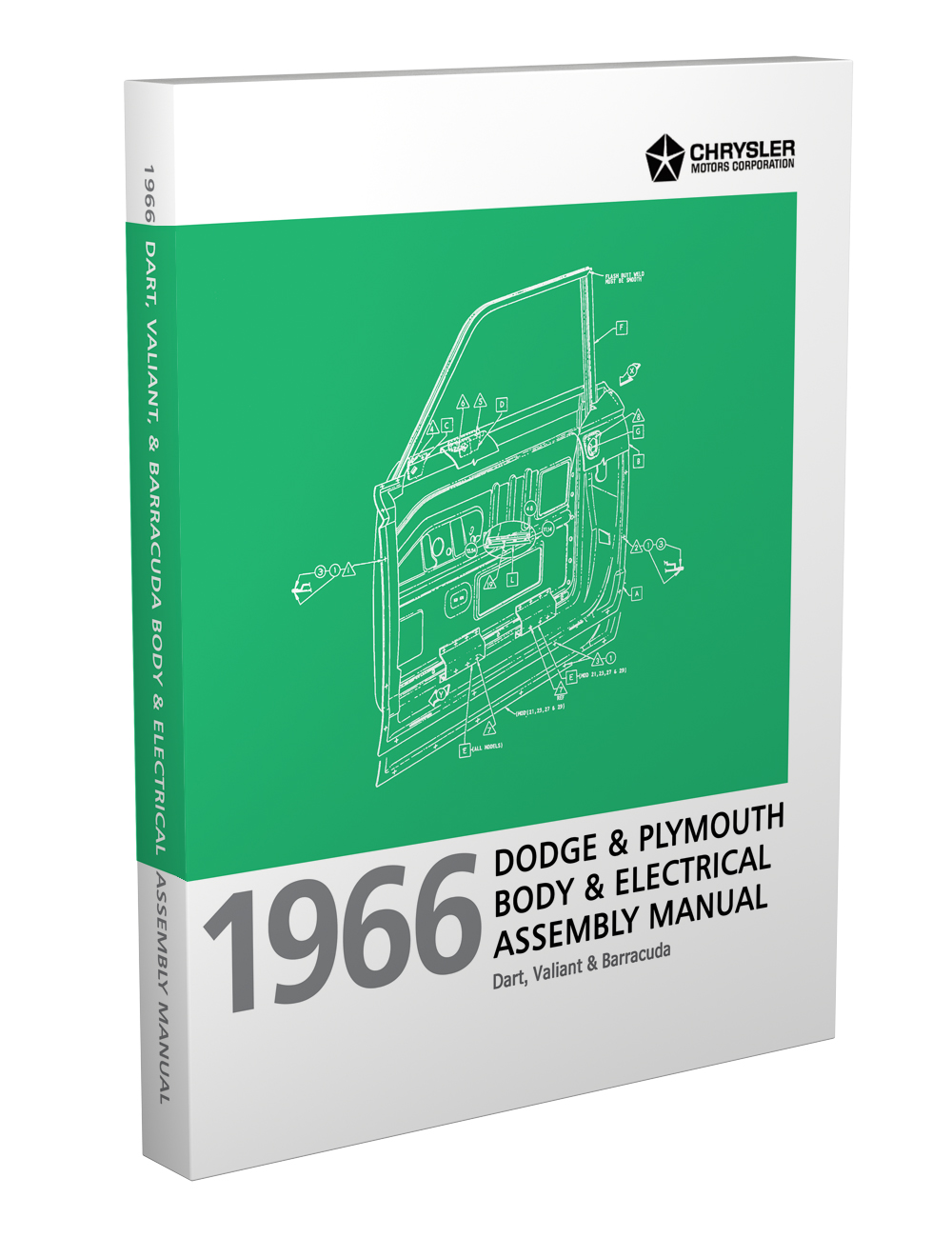 hight resolution of 1966 barracuda valiant and dart electrical and body assembly manual reprint