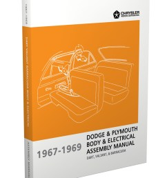 1967 1969 barracuda valiant and dart electrical and body assembly manual reprint [ 1000 x 1300 Pixel ]