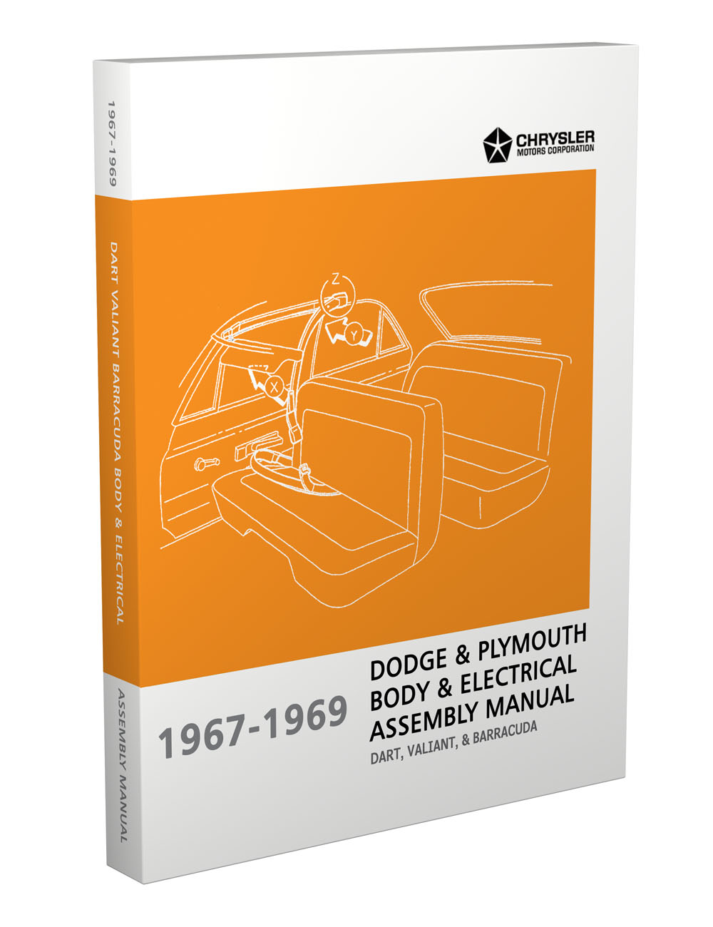 hight resolution of 1967 1969 barracuda valiant and dart electrical and body assembly manual reprint