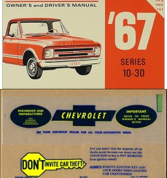 1967 chevrolet 1 ton truck owner s manual package [ 1000 x 1224 Pixel ]