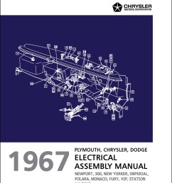 1967 chrysler dodge and plymouth big car electrical assembly manual reprint [ 1000 x 1305 Pixel ]