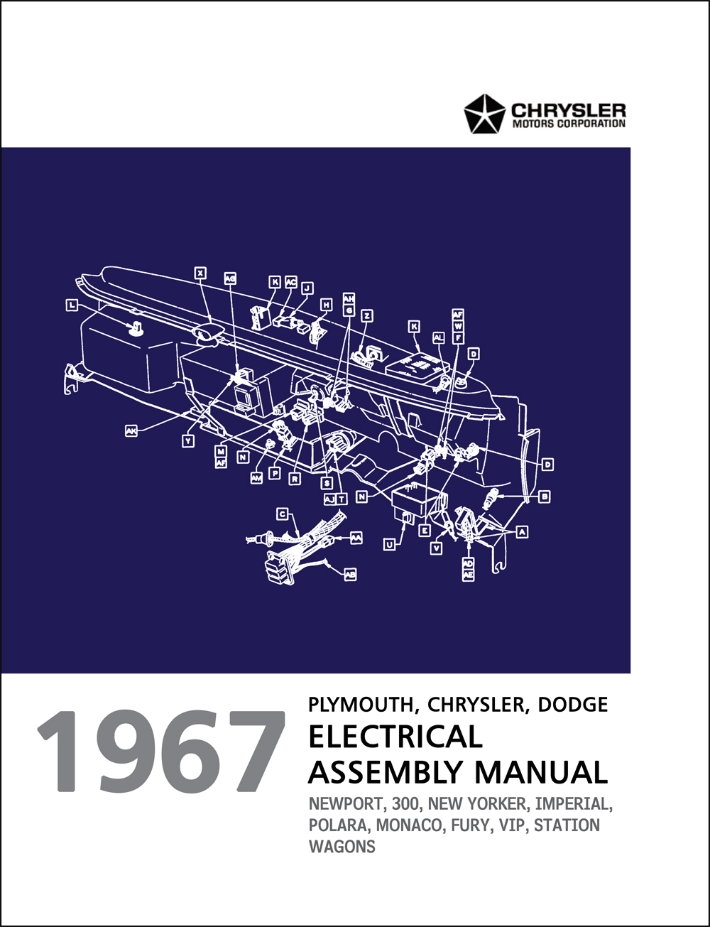 hight resolution of 1967 chrysler dodge and plymouth big car electrical assembly manual reprint