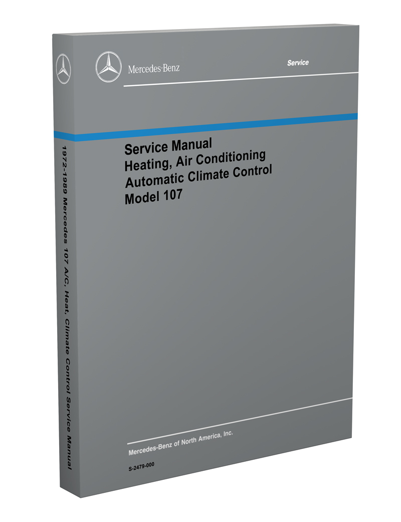 hight resolution of 1972 1989 mercedes 107 air conditioning heater service manual1972 1989 mercedes 107 air conditioning heater service