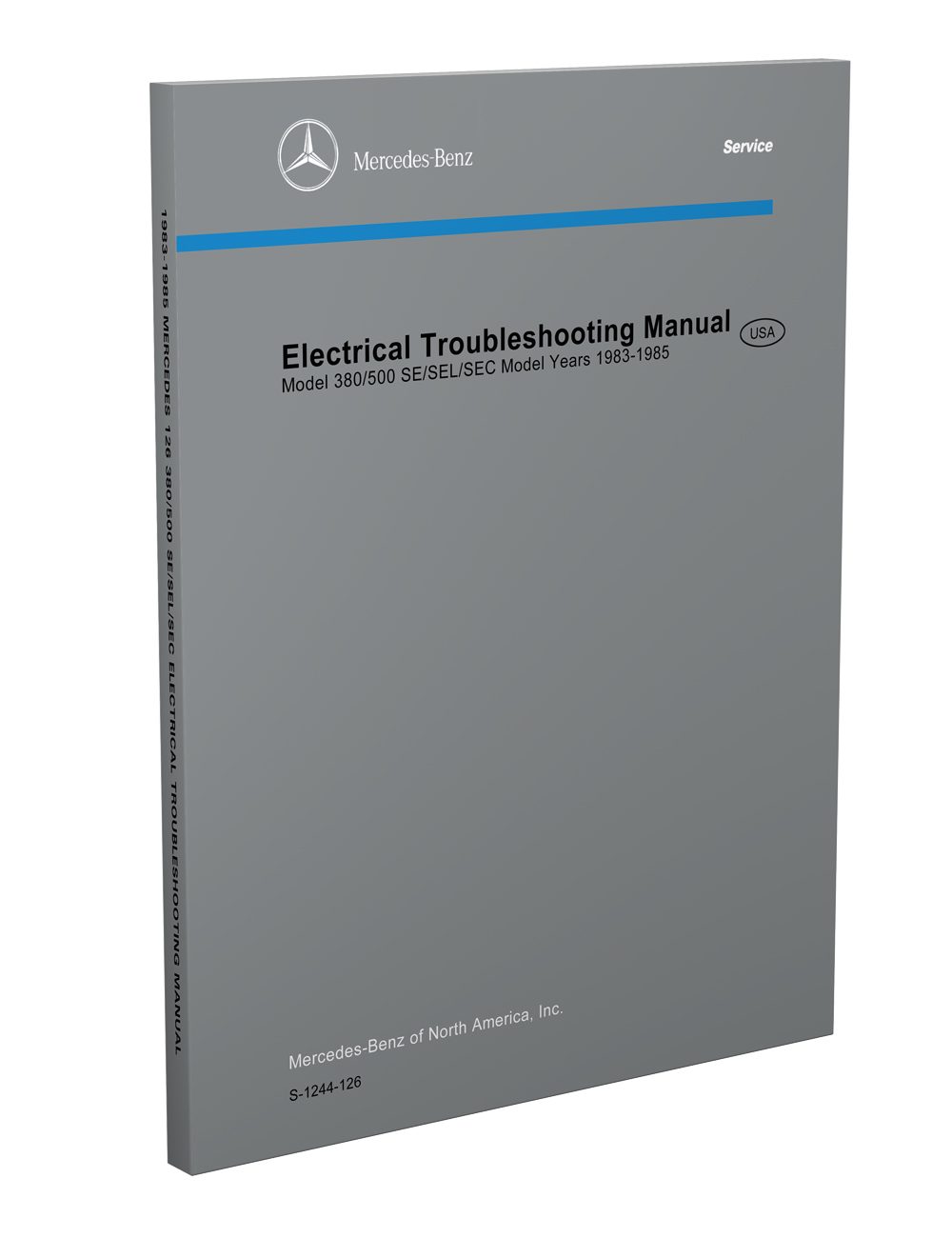 hight resolution of 1983 1985 mercedes electrical troubleshooting manual reprint 380 500 se sec sel