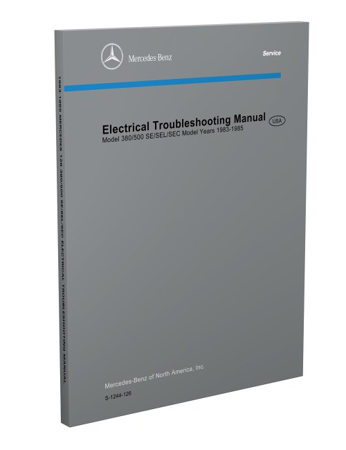 small resolution of 1983 1985 mercedes electrical troubleshooting manual reprint 380 500 se sec sel