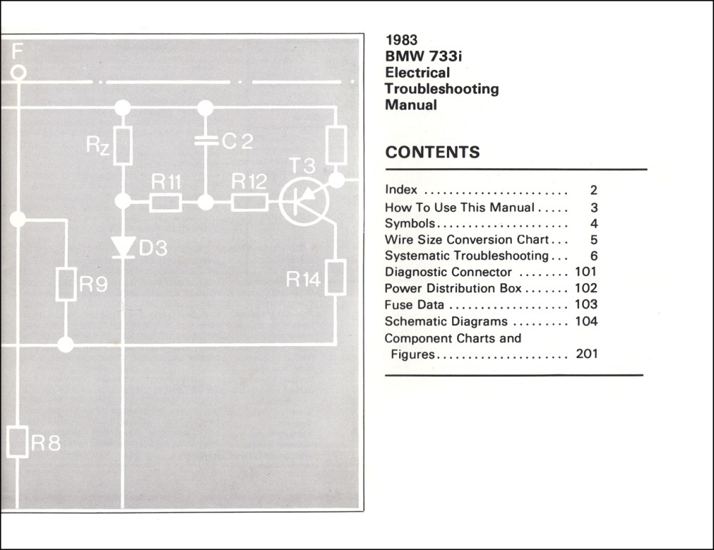 medium resolution of 1983 bmw 733i electrical troubleshooting manual 733 i wiring diagram1983 bmw 733i electrical troubleshooting manual 733