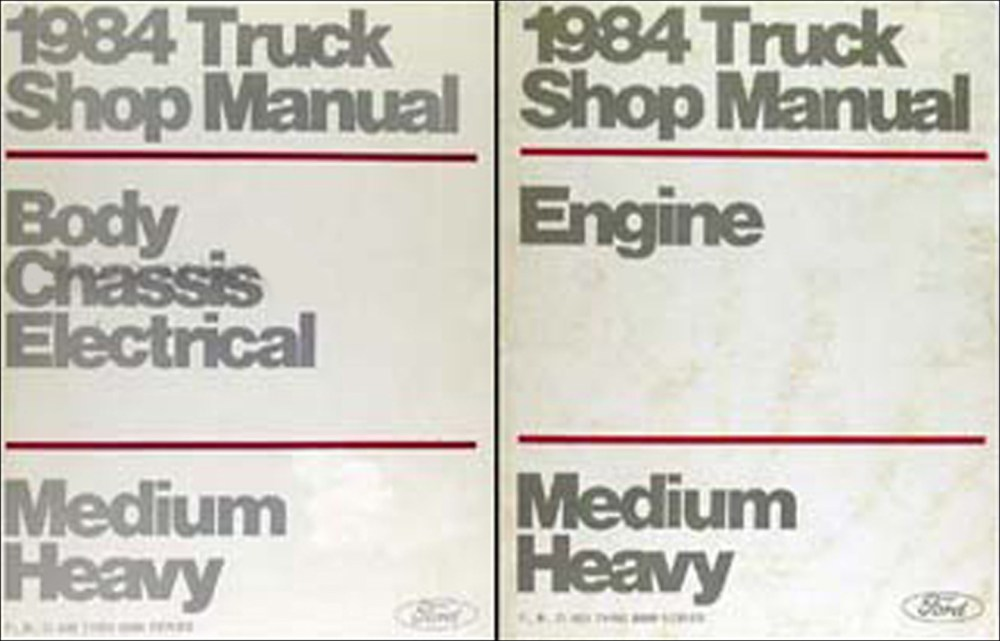 medium resolution of 1984 ford f b c 600 8000 medium heavy truck repair shop manual set original