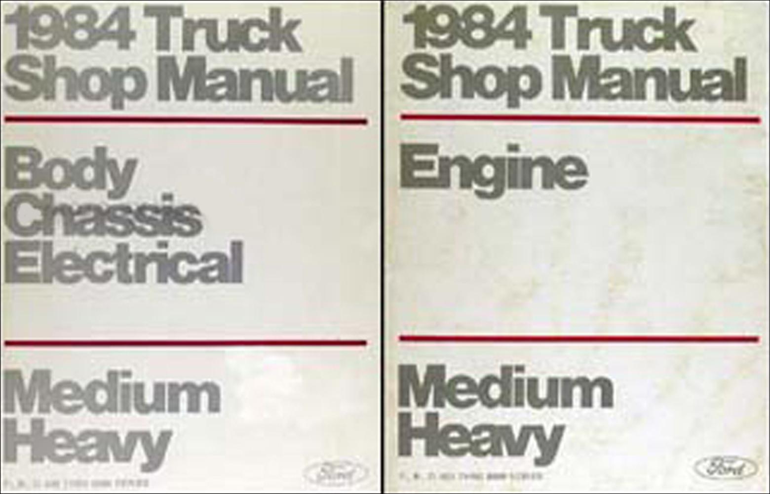 hight resolution of 1984 ford f b c 600 8000 medium heavy truck repair shop manual set original