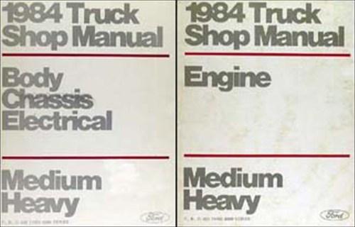 small resolution of 1984 ford f b c 600 8000 medium heavy truck repair shop manual set original