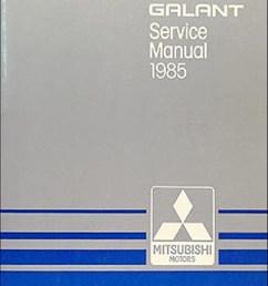 1985 mitsubishi galant repair manual original [ 1000 x 1349 Pixel ]