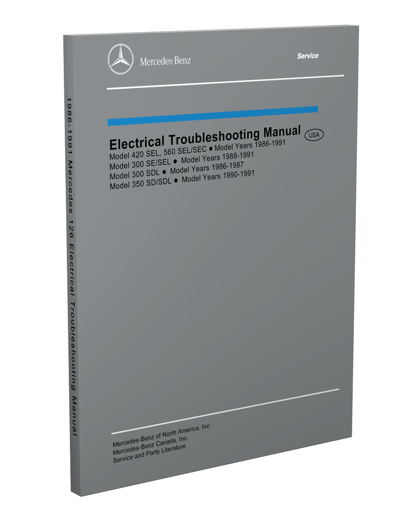 medium resolution of 1986 1991 mercedes 126 electrical troubleshooting manual reprint 300sdl se sel 350sd sdl 420sel 560sec sel
