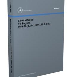 1986 91 mercedes 4 2 amp 5 6 m116 m117 engine reprint repair manual [ 800 x 1040 Pixel ]