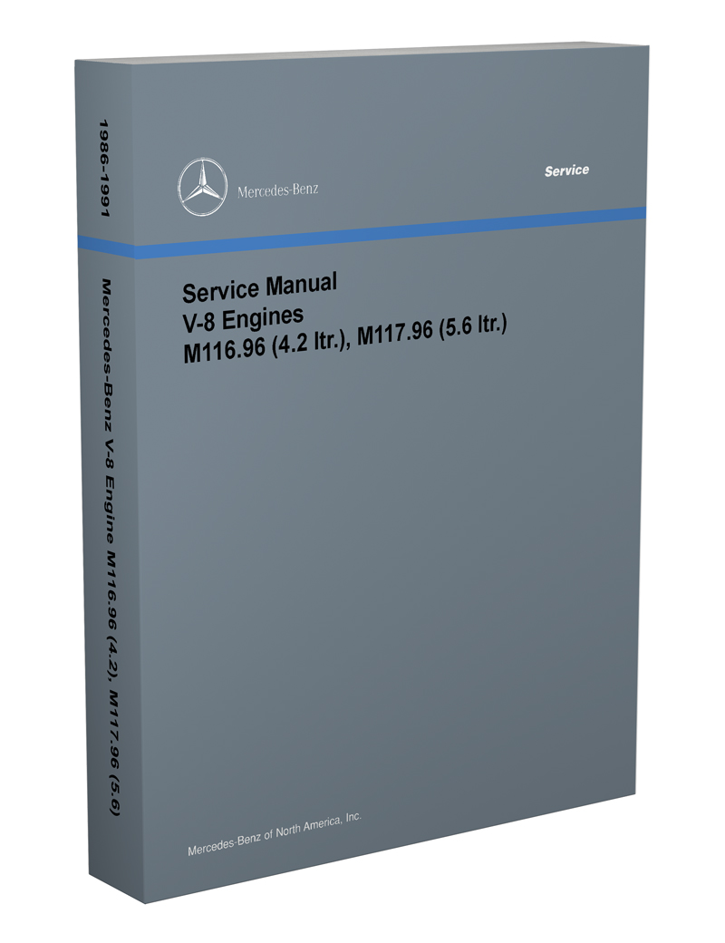 medium resolution of 1986 91 mercedes 4 2 amp 5 6 m116 m117 engine reprint repair manual