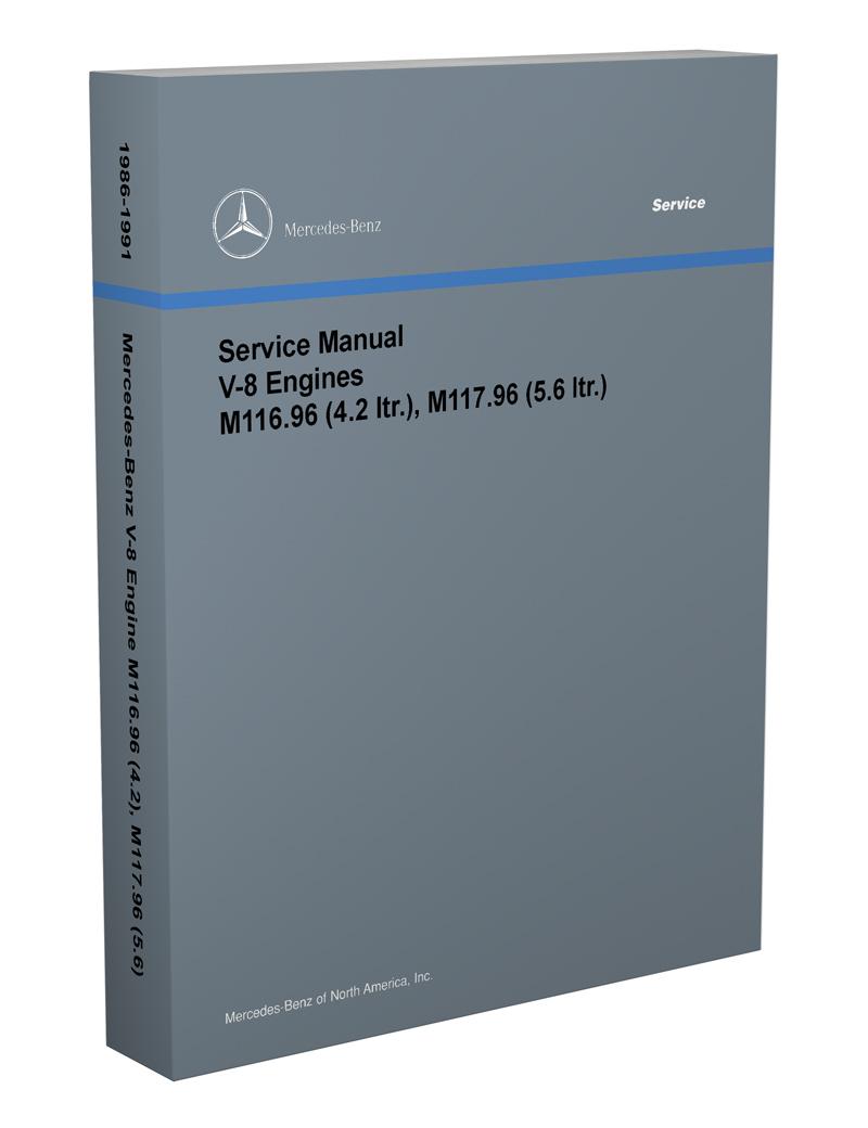 hight resolution of 1986 91 mercedes 4 2 amp 5 6 m116 m117 engine reprint repair manual