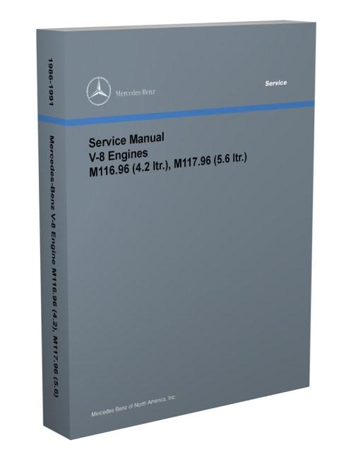 small resolution of 1986 91 mercedes 4 2 amp 5 6 m116 m117 engine reprint repair manual