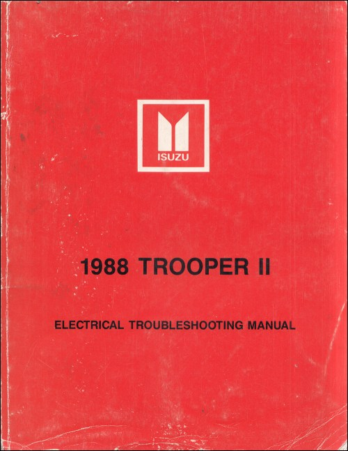 small resolution of 1988 isuzu trooper ii electrical troubleshooting manual original
