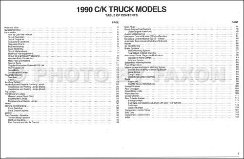 small resolution of 1990 chevy c k pickup wiring diagram manual original