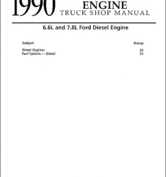 1990 ford truck 6 6 and 7 8 diesel engine repair shop manual 259 00 [ 1000 x 1284 Pixel ]