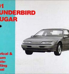 1991 ford thunderbird mercury cougar electrical troubleshooting manual [ 1272 x 982 Pixel ]