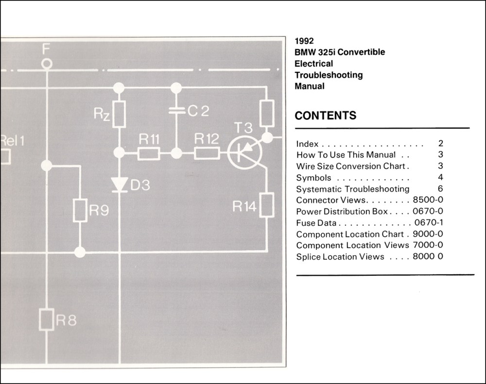 medium resolution of 1992 bmw 325i convertible electrical troubleshooting manual 1992 bmw 325i convertible electrical troubleshooting manual click on