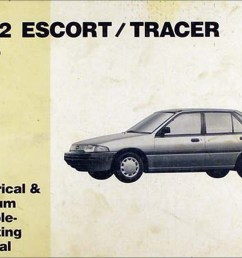 1992 ford escort and mercury tracer electrical troubleshooting manual [ 1303 x 1000 Pixel ]