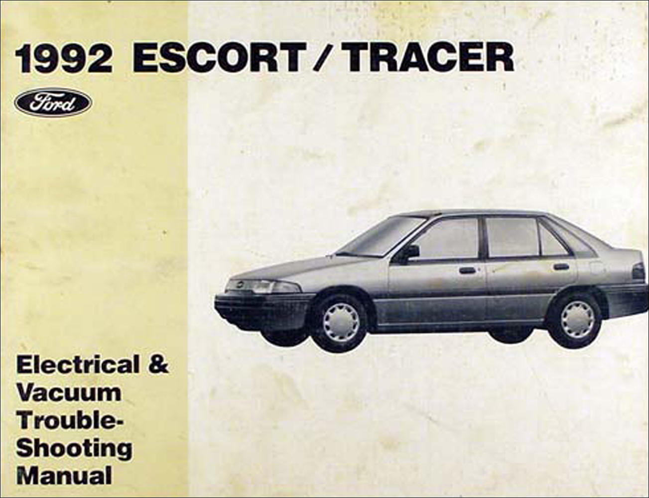 hight resolution of 1992 ford escort and mercury tracer electrical troubleshooting manual