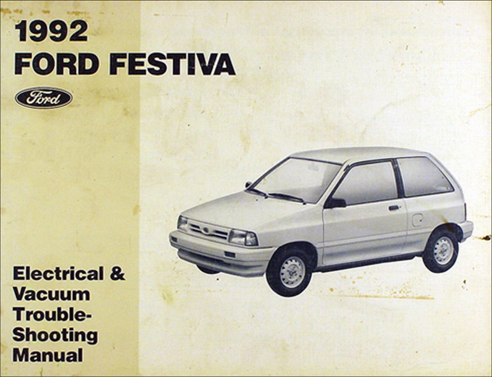 medium resolution of 1992 ford festiva original electrical u0026 vacuum troubleshooting manual1992 ford festiva wiring diagram 2